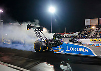 Oct 3, 2020; Madison, Illinois, USA; NHRA top fuel driver Tony Schumacher during qualifying for the Midwest Nationals at World Wide Technology Raceway. Mandatory Credit: Mark J. Rebilas-USA TODAY Sports
