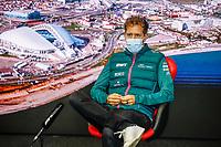 23rd September 2021; Sochi, Russia;   VETTEL Sebastian ger, Aston Martin F1 AMR21, during the Formula 1 VTB Russian Grand Prix 2021, 15th round of the 2021 FIA Formula One World Championship driver press conference