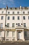 Typical Georgian town house Belgrave Street. Belgravia London SW1  London. UK 2008.