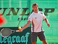 Netherlands, Amstelveen, August 22, 2015, Tennis,  National Veteran Championships, NVK, TV de Kegel,  Men's  45+, Niels de Kok<br /> Photo: Tennisimages/Henk Koster