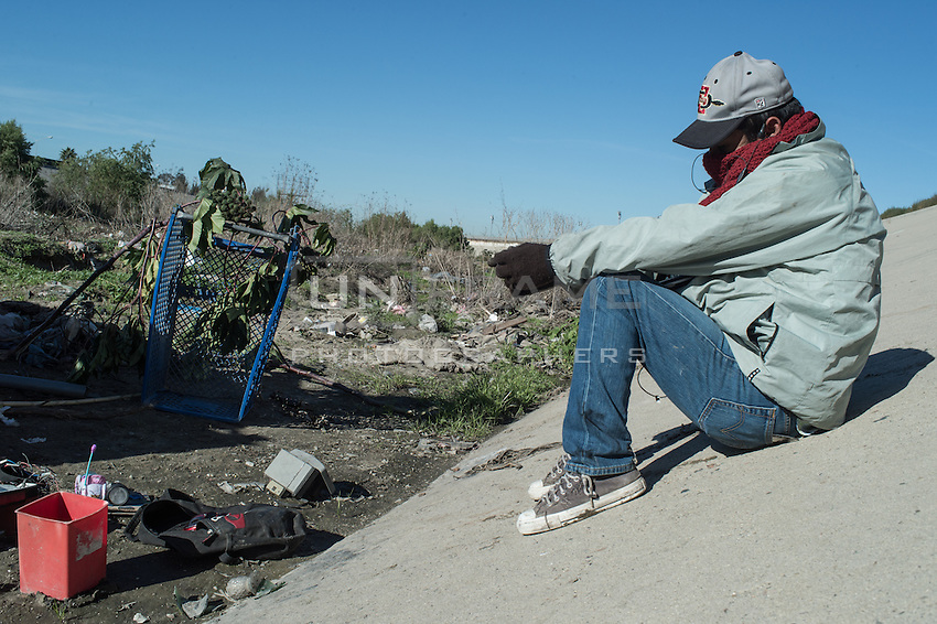 Juan used to live in the USA working as a carpenter in California. 2 years  ago he got deported. He now lives in Tijuana for more than 3 years and doesn't want to return to his family. Tijuana, Mexico. Jan. 05, 2015