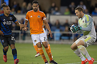 Santa Clara, CA - Saturday April 14, 2018: The San Jose Earthquakes and Houston Dynamo played to a 2-2 draw during a Major League Soccer game at the Avaya Stadium.
