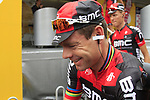 Defending Champion Cadel Evans (AUS) BMC Racing Team at sign on before the start of Stage 2 of the 99th edition of the Tour de France 2012, running 207.5km from Vise to Tournai, Belgium. 2nd July 2012.<br /> (Photo by Eoin Clarke/NEWSFILE)