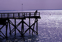Man at end of pier<br />