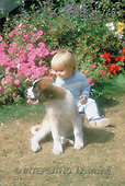 Interlitho, CHILDREN, photos, boy, dog, flowers(KL1763,#K#) Kinder, niños