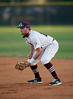 Braden River Pirates first baseman Trenton Hedgepeth (10) during a game against the Venice Indians on February 25, 2021 at Braden River High School in Bradenton, Florida. (Mike Janes/Four Seam Images)