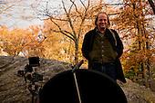 New York, New York<br /> Manhattan, Central Park<br /> December 1, 2014<br /> <br /> George Siemon, CEO of Organic Valley, interview in Central Park Manhattan New  York.