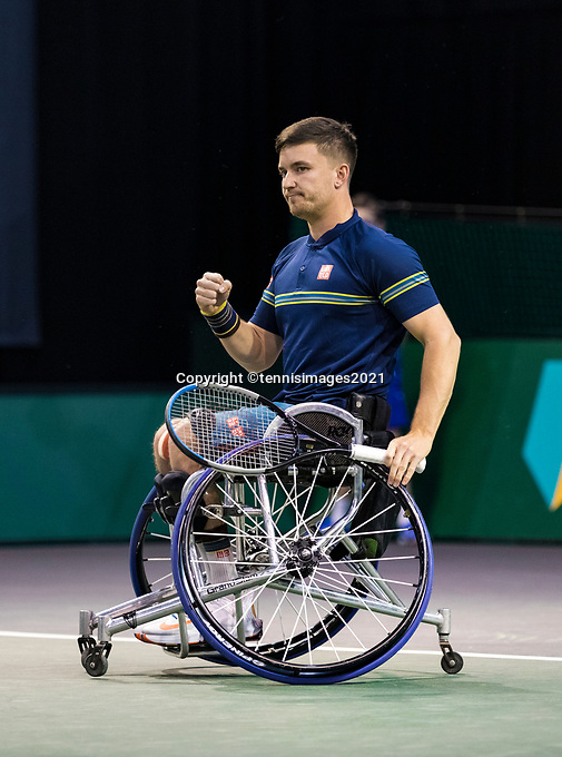 Rotterdam, The Netherlands, 5 march  2021, ABNAMRO World Tennis Tournament, Ahoy,  First round wheelchair: Gordon Reid (GBR). Photo: www.tennisimages.com/