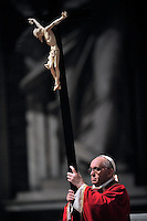 Good Friday Passion of the Lord Pope Francis in Saint Peter's Basilica.March 29, 2013