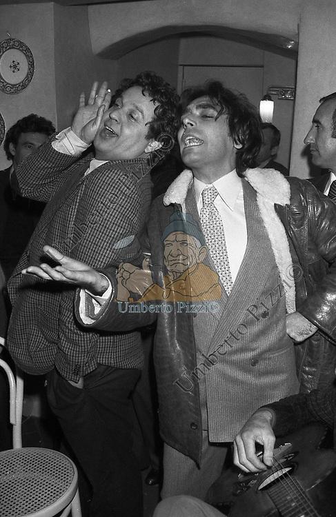 RENATO POZZETTO CON LEOPOLDO MASTELLONI FIRENZE 1980