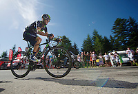 Alejandro Valverde (ESP/Movistar) rode himself into a 2nd overall by riding strong up the final climb to Chamrousse (1730m/18.2km/7.3%)<br /> <br /> 2014 Tour de France<br /> stage 13: Saint-Etiènne - Chamrousse (197km)