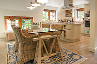 BNPS.co.uk (01202) 558833. <br /> Pic: Bidwells/BNPS<br /> <br /> Pictured: Kitchen.<br /> <br /> Better than a gravy boat...<br /> <br /> A striking country house built by a bishop as a wedding gift for his son is on the market for offers over £2m.<br /> <br /> Dunbeg House sits in an incredible position on the bank of a loch with stunning panoramic water and mountain views.<br /> <br /> The impressive property not only includes the five-bedroom main house, but also a two-bedroom cottage that has been run as a successful holiday let and over four acres of woodland garden.