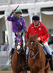 May 17, 2014. California Chrome, Victor Espinoza up, wins the 139th Preakness Stakes at Pimlico Race Course in Baltimore, MD. ©Joan Fairman Kanes/ESW/CSM