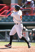 April 15th 2008:  Infielder Blake Davis (5) of the Bowie Baysox, Class-AA affiliate of the Baltimore Orioles, during a game at Jerry Uht Park in Erie, PA.  Photo by:  Mike Janes/Four Seam Images