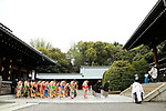 General view, <br /> APRIL 17, 2017 - Sumo : Yasukuni Shrine Honozumo is a ceremonial annual sumo tournament held in the precincts of the Yasukuni Shrine in Tokyo, Japan. (Photo by Yohei Osada/AFLO SPORT)