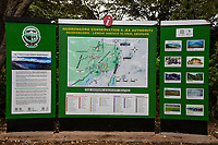 Tanzania. Ngorongoro Crater, Map of the Conservation Area.