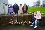 Michelle Brosnan with her daughter  Aliya Brosnan  and back l-r: Mary and John Cronin, Kathleen and Francis O'Brien who are asking the Council to remove the bollards that are blocking their road in Ballyspillane Killarney