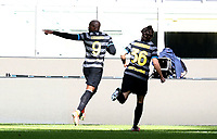 Calcio, Serie A: Inter Milano - Genoa , Giuseppe Meazza (San Siro) stadium, in Milan, February 28, 2021.  <br /> Inter's Romelu Lukaku (l) celebrates after scoring with his teammate Matteo Darmian (r) during the Italian Serie A football match between Inter and Genoa at Giuseppe Meazza (San Siro) stadium, on February 28, 2021.  <br /> UPDATE IMAGES PRESS/Isabella Bonotto