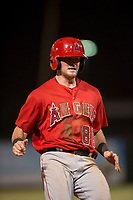 AZL Angels third baseman Justin Jones (88) holds at third base during an Arizona League game against the AZL Diamondbacks at Tempe Diablo Stadium on June 27, 2018 in Tempe, Arizona. The AZL Angels defeated the AZL Diamondbacks 5-3. (Zachary Lucy/Four Seam Images)