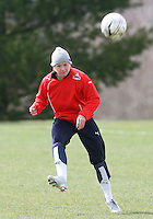 Cat Whitehill during Washington Freedom  practice and media event at the Maryland Soccerplex on March 25 in Boyd's, Maryland.