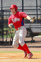 Patrick Murray (60) Infielder for the GCL Phillies during a game on June 26, 2010 against the GCL Yankees at the Yankees Training Complex in Tampa, The GCL Phillies are the Gulf Coast Rookie League affiliate of the Philadelphia Phillies. Murray was selected by the Phillies in the 34th Round (1041 Overall) of the 2010 MLB First Year Player Draft. Photo By Mark LoMoglio/Four Seam Images