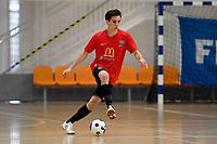 Hemi Innes of Canterbury during the Men's Futsal SuperLeague, Canterbury United Futsal Dragons v Capital Futsal at ASB Sports Centre, Wellington on Saturday 31 October 2020.<br /> Copyright photo: Masanori Udagawa /  www.photosp ort.nz