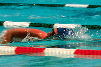 Swimmer in lane.
