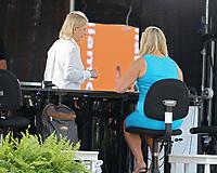 MIAMI GARDENS, FLORIDA - APRIL 04: (NO SALES TO NEW YORK POST) Hubert Hurkacz of Poland defeats Jannik Sinner of Italy during the men's singles final at the Miami Open at Hard Rock Stadium. on April 04, 2021 in Miami Gardens, Florida.<br /> <br /> <br /> People:  Martina Navratilova Credit: hoo-me / MediaPunch