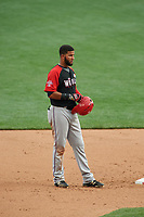 World Team Nomar Mazara (12) during the MLB All-Star Futures Game on July 12, 2015 at Great American Ball Park in Cincinnati, Ohio.  (Mike Janes/Four Seam Images)