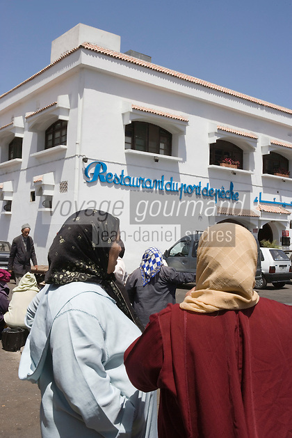 Afrique/Afrique du Nord/Maroc /Casablanca: le Restaurant du port de pèche