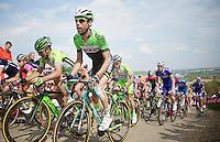 local rider Laurens Ten Dam (NLD/Belkin) up the steep Gulperberg<br /> <br /> Amstel Gold Race 2014