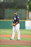 ***Temporary Unedited Reference File***San Antonio Missions starting pitcher Luis Diaz (50) during a game against the Midland RockHounds on April 21, 2016 at Nelson W. Wolff Municipal Stadium in San Antonio, Texas.  Midland defeated San Antonio 9-2.  (Mike Janes/Four Seam Images)