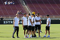 STANFORD, CA - JUNE 29: San Jose Earthquakes  during a Major League Soccer (MLS) match between the San Jose Earthquakes and the LA Galaxy on June 29, 2019 at Stanford Stadium in Stanford, California.