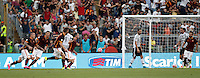 Calcio, Serie A: Roma vs Juventus. Roma, stadio Olimpico, 30 agosto 2015.<br /> Roma's Miralem Pjanic, center, celebrates after scoring on a free kick during the Italian Serie A football match between Roma and Juventus at Rome's Olympic stadium, 30 August 2015.<br /> UPDATE IMAGES PRESS/Isabella Bonotto