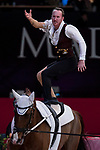 Vaulter Kristian Roberts and his horse Dante during Madrid Horse Week at Ifema in Madrid, Spain. November 26, 2017. (ALTERPHOTOS/Borja B.Hojas)