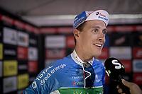 Niki Terpstra (NED/Total - Direct Energie) interviewed post-race<br /> <br /> Dwars door het Hageland 2019 (1.1)<br /> 1 day race from Aarschot to Diest (BEL/204km)<br /> <br /> ©kramon