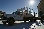 The Arctic Circle delivery service truck carries goods from the small local airport, to the one local village store in Old Crow, Yukon Territory, Canada. There are no roads to Old Crow, it is a very remote, fly-in First Nation community.