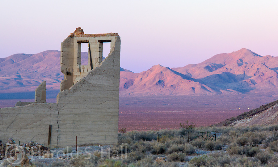 Rhyolite is an abandoned mining town in Nevada, near Death Valley National Park.