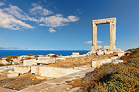 Portara in Chora of Naxos island in Cyclades, Greece