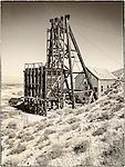 Desert Queen Mine and hoist house, historic mining park, Tonopah, Nev.