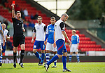 St Johnstone v Inverness Caley Thistle.....27.04.13      SPL.Ref Craig Thomson sends off David Raven.Picture by Graeme Hart..Copyright Perthshire Picture Agency.Tel: 01738 623350  Mobile: 07990 594431