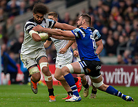 Bristol Bears' Christopher Vui evades the tackle of Bath Rugby's Elliott Stooke<br /> <br /> Photographer Bob Bradford/CameraSport<br /> <br /> Gallagher Premiership - Bath Rugby v Bristol Bears - Saturday 6th April 2019 - The Recreation Ground - Bath<br /> <br /> World Copyright © 2019 CameraSport. All rights reserved. 43 Linden Ave. Countesthorpe. Leicester. England. LE8 5PG - Tel: +44 (0) 116 277 4147 - admin@camerasport.com - www.camerasport.com