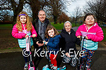 Enjoying the afternoon in the Tralee town park on Thursday, l to r: Ina, Maurice, Jean, Brid and Kim Horan