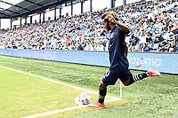 KANSAS CITY, KS - MAY 16: Gianluca Busio #10 Sporting KC during a game between Vancouver Whitecaps and Sporting Kansas City at Children's Mercy Park on May 16, 2021 in Kansas City, Kansas.