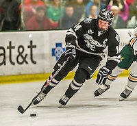 29 December 2014: Providence College Friar Forward Ross Mauermann, a Senior from Janesville, WI, in second period action against the University of Vermont Catamounts during the deciding game of the annual TD Bank-Sheraton Catamount Cup Tournament at Gutterson Fieldhouse in Burlington, Vermont. The Friars shut out the Catamounts 3-0 to win the 2014 Cup. Mandatory Credit: Ed Wolfstein Photo *** RAW (NEF) Image File Available ***