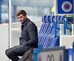 25.10.2020 Rangers v Livingston: Rangers manager Steven Gerrard