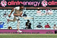 10th January 2021; Sydney Cricket Ground, Sydney, New South Wales, Australia; International Test Cricket, Third Test Day Four, Australia versus India; Mitchell Starc of Australia folllows through after bowling