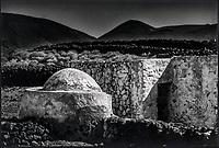 Europe, Espagne, Iles Canaries, Lanzarote:  détail d'une ferme  // Europe, Spain, Canary Islands, Lanzarote: farm detail