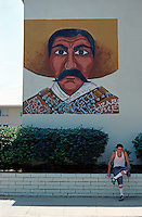 Los Angeles: Zapata Mural, Estrada Court, Boyle Heights.  Photo '85.