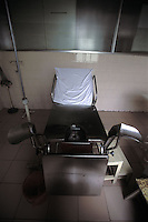 "The abortion chair of a country clinic in Guangdong Province, south China.  Forced abortions are commonly carried out by the Birth Control Unit on women that go ""over quota"" or break the law strict Birth Control laws in China.  Recently riots broke out and five officials were killed in Bobai country in south China after forced abortions and fines were levied on the hapless population.<br /> ©sinopix"